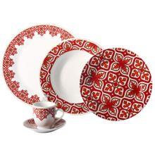 Aparelho De Jantar Porcelana 30 Peças Stambul