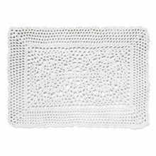 Americano Retangular De Crochet Branco