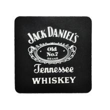 Porta Copos De Borracha Quadrado Jack Daniels Preto