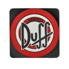 Porta Copos De Borracha Quadrado Duff Logo Preto