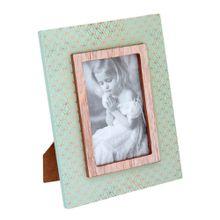 Porta Retrato Maite Verde E Dourado 10x15cm Mdf