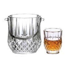 Jogo Para Whisky Margot 7 Peças Em Vidro Transparente