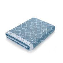 Toalha De Banho Speciale Azul E Branco 86x160cm