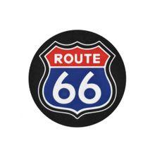 Porta Copos De Borracha Quadrado Route 66 Branco