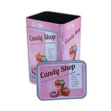 Lata Metal Kitchen Candy Shop Rosa