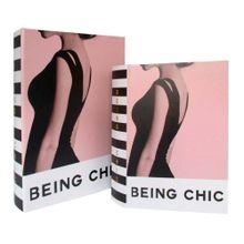 Conjunto De Caixas Livro Being Chic 2 Peças