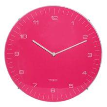 Relógio De Parede Neon Pink De Plástico Ø33cm