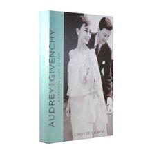 Livro Caixa Decorativo Audrey and Givenchy 31x20x4,5cm