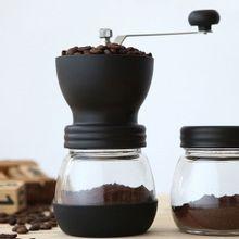 Moedor De Café Manual Com Recipiente Em Vidro