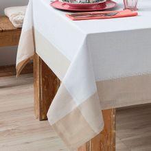 Toalha de Mesa Chamonix Branco e Bege 1,8x2,8m