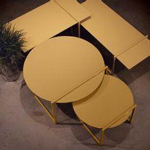 Mesa de Centro Toi Amarela Grande Nolan Collection
