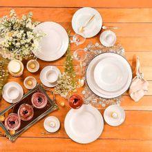 Aparelho De Jantar Chá E Café Flamingo Dress 42 Peças Oxford