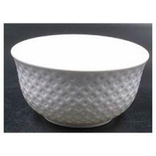 Bowl De Porcelana New Bone Losango Branco 12,5x6,5cm