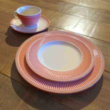 Conjunto Com 6 Pratos De Sobremesa Toscana Vermelho Corona 21,5cm