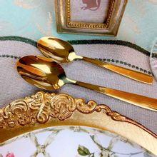 Colheres Para Chá Pisa Em Aço Inox Dourado 12 Peças | Wolff