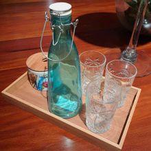 Garrafa De Vidro Azul Tiffany 1,1L